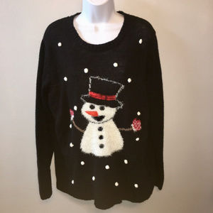 Laura Scott Snowman Sweater XL